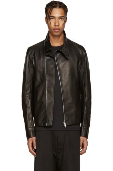 Rick Owens - Black Mollino's Biker Jacket