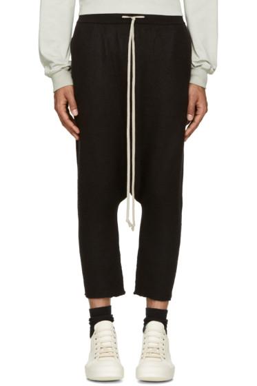 Rick Owens - Black Cashmere Lounge Pants
