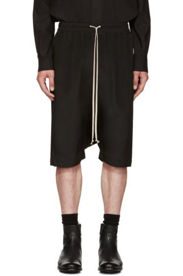 Rick Owens - Black Silk Pods Shorts