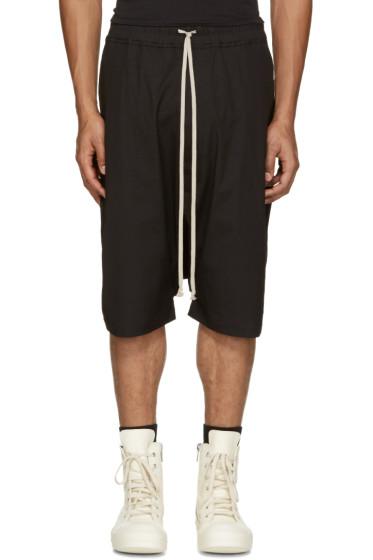 Rick Owens - Black Pods Shorts