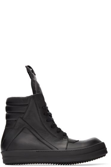 Rick Owens - Black Geobasket High-Top Sneakers