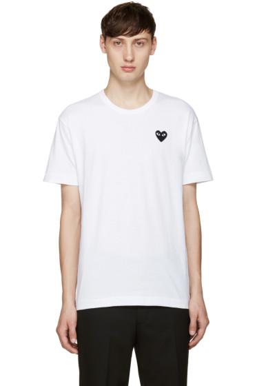 Comme des Garçons Play - White Heart Patch T-Shirt