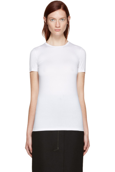 Jil Sander - White Stretch Cotton T-Shirt