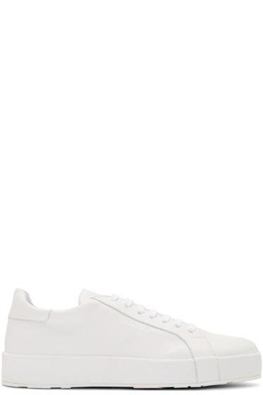Jil Sander - White Leather Miro Sneakers