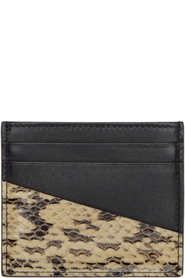 Jil Sander - Black Python-Trimmed Card Holder