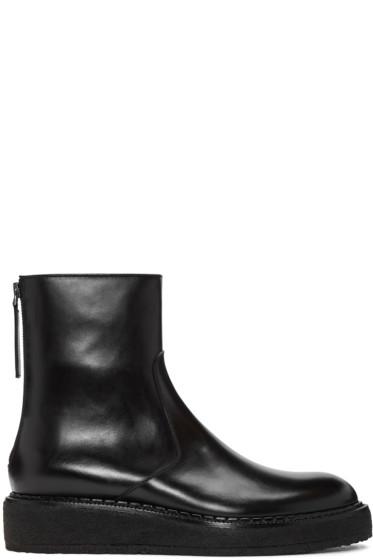 Jil Sander - Black Crepe Sole Boots