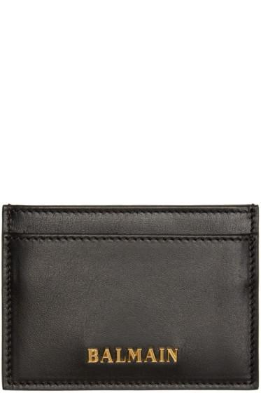 Balmain - Black Leather Card Holder