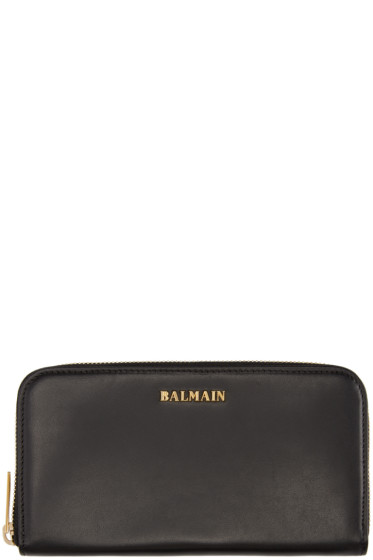 Balmain - Black Leather Wallet
