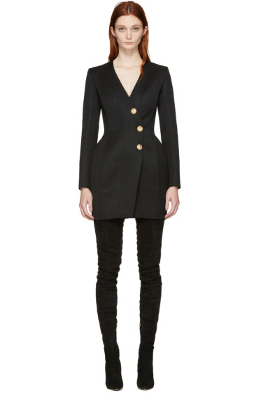 Balmain - Black Button Dress