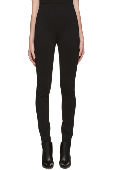 Balmain - Black High-Rise Trousers
