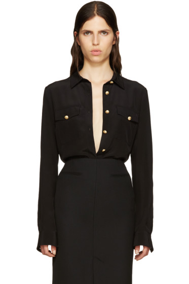Balmain - Black Silk Classic Shirt
