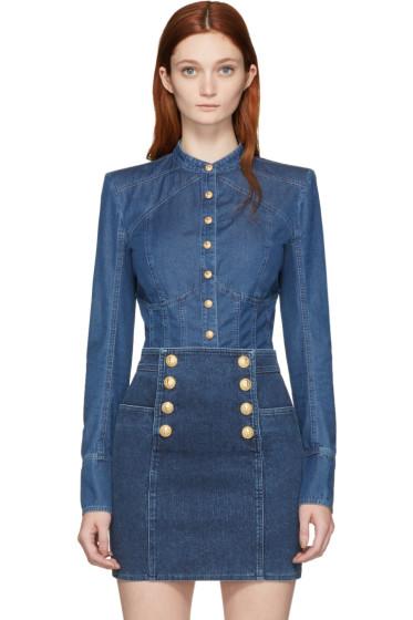 Balmain - Blue Denim Shirt