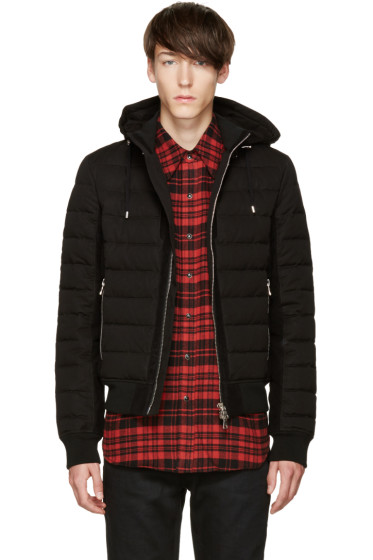 Balmain - Black Quilted Down Jacket