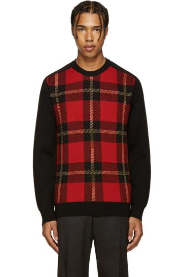 Balmain - Black & Red Tartan Sweater