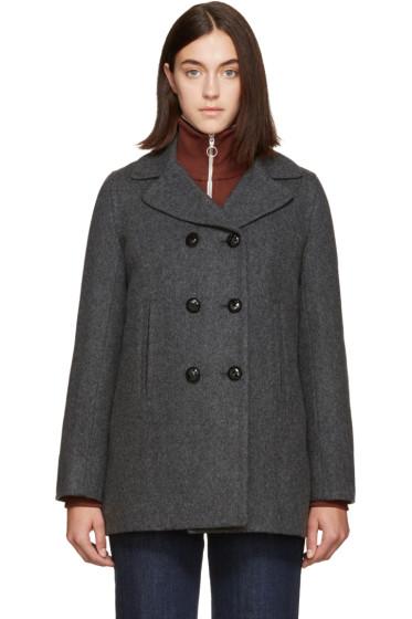 A.P.C. - Grey Harper Coat