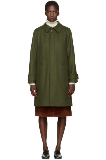 A.P.C. - Green Mac Dinar Trench Coat
