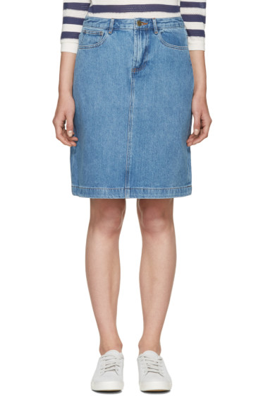 A.P.C. - Blue Denim High Standard Miniskirt