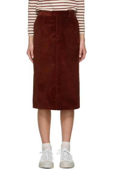 A.P.C. - Brown Constance Skirt