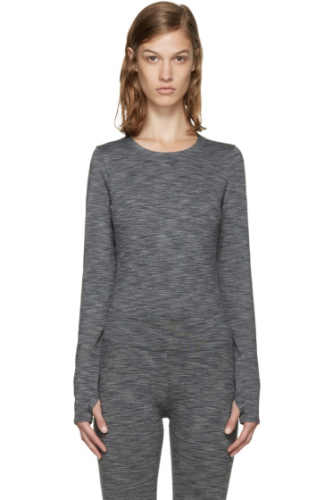 A.P.C. x Outdoor Voices - Grey Long Sleeve Bodysuit