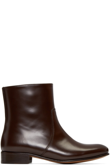 A.P.C. - Brown Leather Richard Boots
