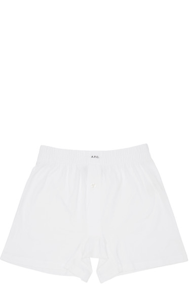 A.P.C. - White Cabourg Boxers