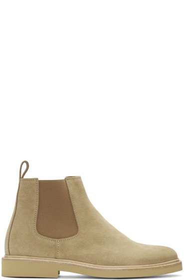 A.P.C. - Beige Suede Grant Chelsea Boots