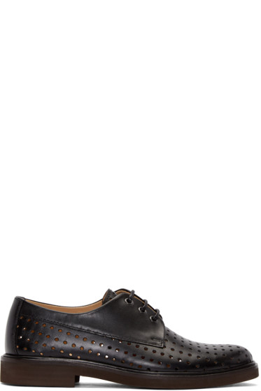 A.P.C. - Black Perforated Hugo Derbys