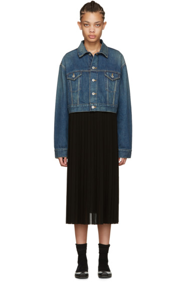 Junya Watanabe - Indigo Denim Contrast Dress