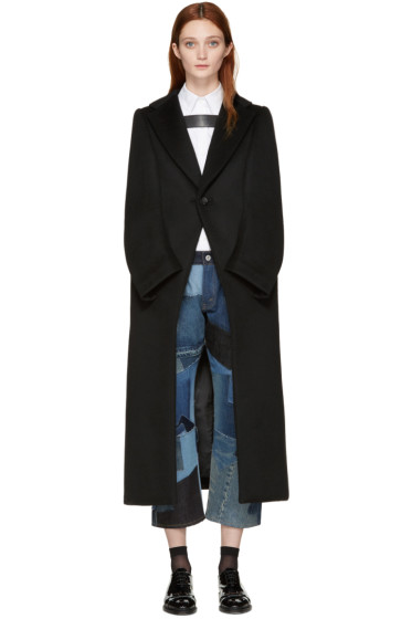 Junya Watanabe - Black Mock Sleeves Coat