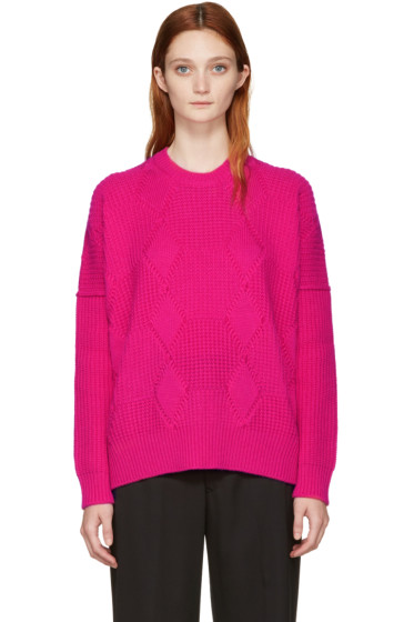 Junya Watanabe - Pink Aran Wool Sweater
