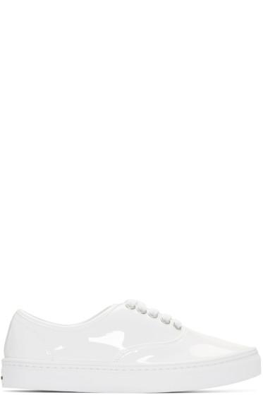 Junya Watanabe - White Patent Leather Sneakers