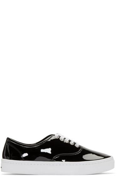 Junya Watanabe - Black Patent Leather Sneakers