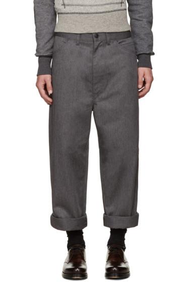 Junya Watanabe - Grey Twill Trousers