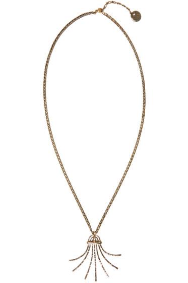 Lanvin - Gold Palm Pendant Necklace