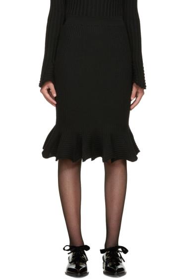 Lanvin - Black Ribbed Skirt