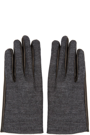 Lanvin - Grey Wool & Leather Gloves