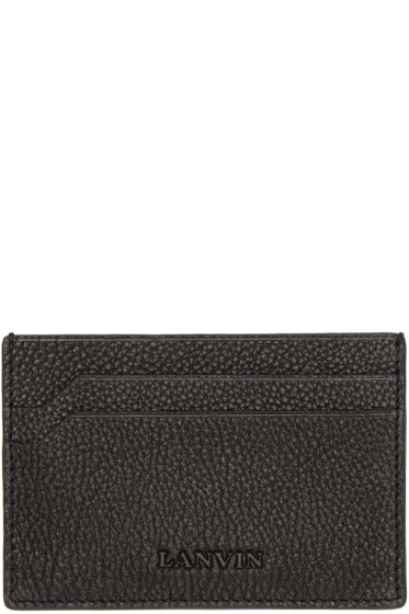 Lanvin - Black Leather Card Holder