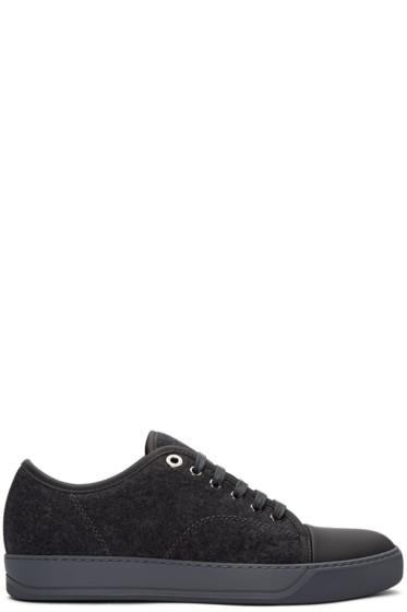 Lanvin - Grey Felt Tennis Sneakers