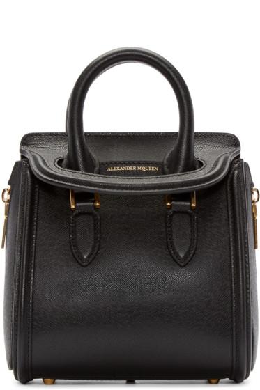 Alexander McQueen - Black Mini Heroine Bag