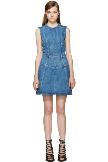 Alexander McQueen - Blue Denim Dress