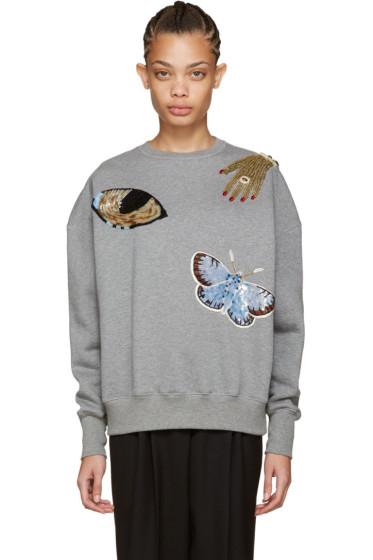 Alexander McQueen - Grey Oversized Obsession Sweatshirt