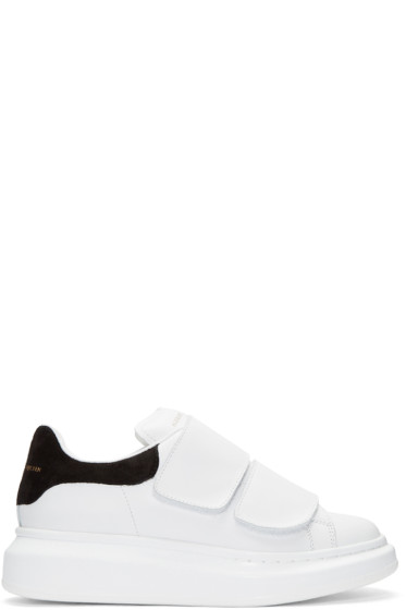 Alexander McQueen - White Leather Velcro Sneakers