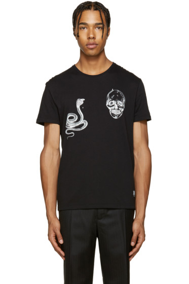 Alexander McQueen - Black Animal & Skull T-Shirt