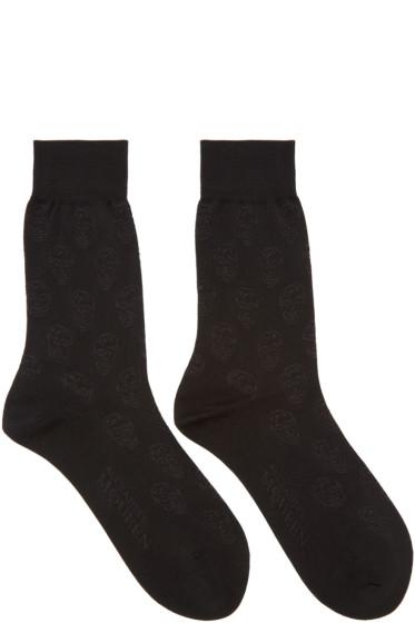 Alexander McQueen - Black Skulls Socks