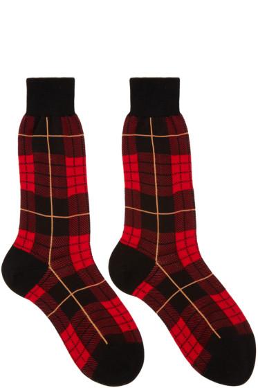 Alexander McQueen - Red Plaid Socks
