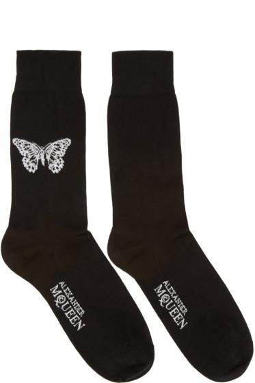 Alexander McQueen - Black Butterfly Socks