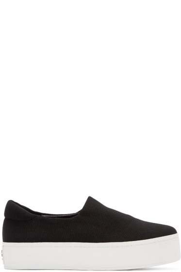 Opening Ceremony - Black Platform Slip-On Sneakers