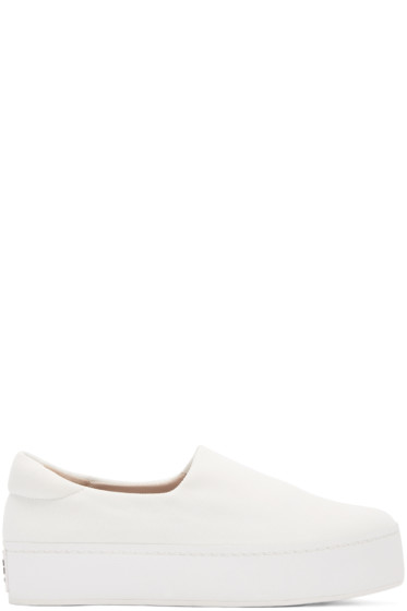 Opening Ceremony - White Platform Slip-On Sneakers