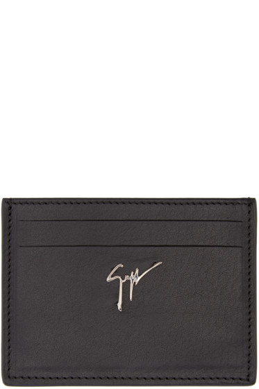 Giuseppe Zanotti - Black Leather Card Holder