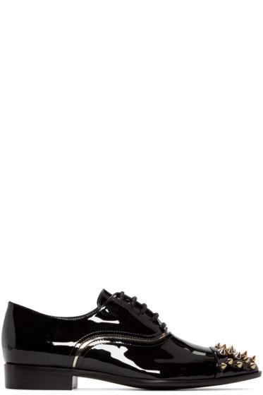 Giuseppe Zanotti - Black Studded Oxfords